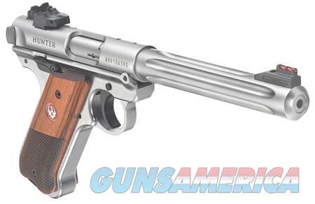 """Ruger 40118 Mark IV Hunter  22 LR SAO 6.88"""" 10+1 Checkered Grip Satin Stainless Frame and Slide  Guns > Pistols > R Misc Pistols"""