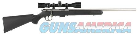"""Savage 95200 93 FVSS XP with Scope Bolt 22 WMR 21"""" 5+1 Black Fixed Synthetic Stock Stainless Steel  Guns > Rifles > Savage Rifles > Accutrigger Models > Sporting"""