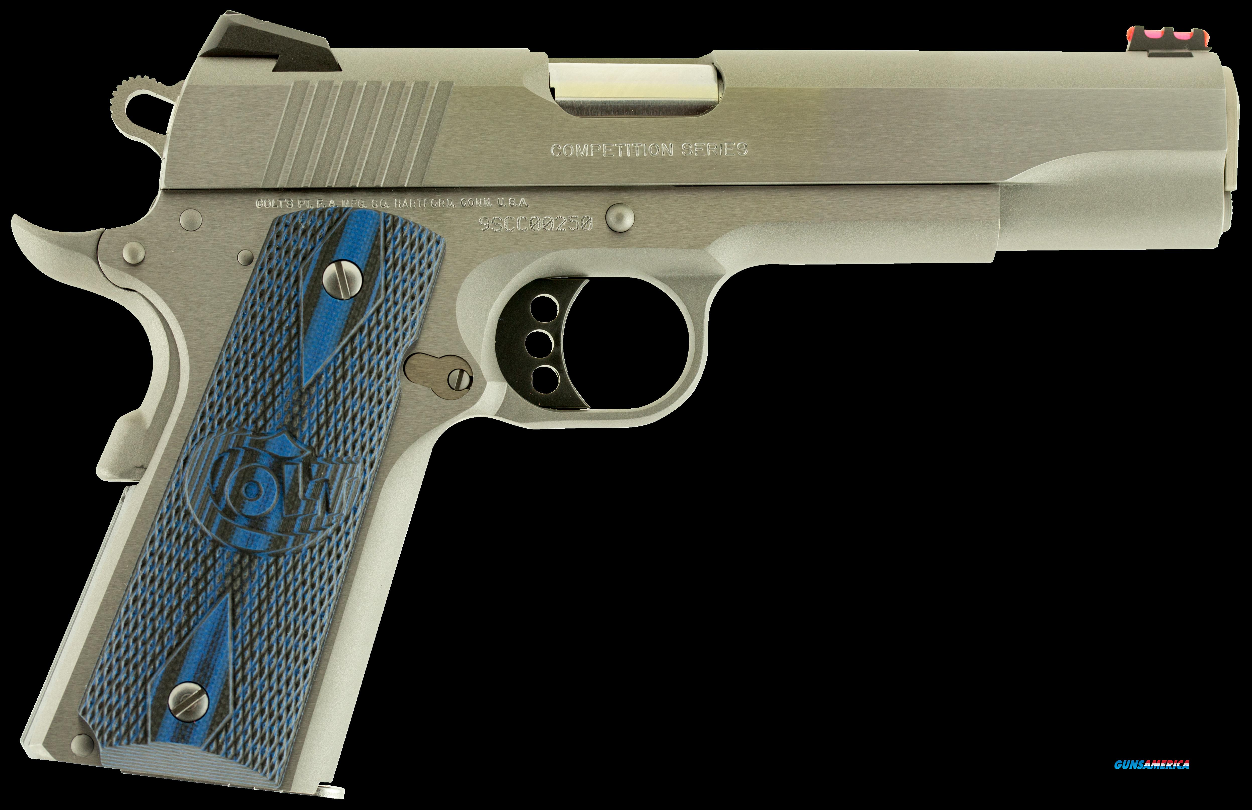 "Colt Mfg O1082CCS 1911 Competition Single 9mm 5"" 9+1 Blue G10 Grip Stainless Steel  Guns > Pistols > C Misc Pistols"