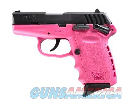 SCCY Industries CPX-1 9MM BLK/PINK 10+1 SFTY PINK POLYMER FRAME  Guns > Pistols > S Misc Pistols