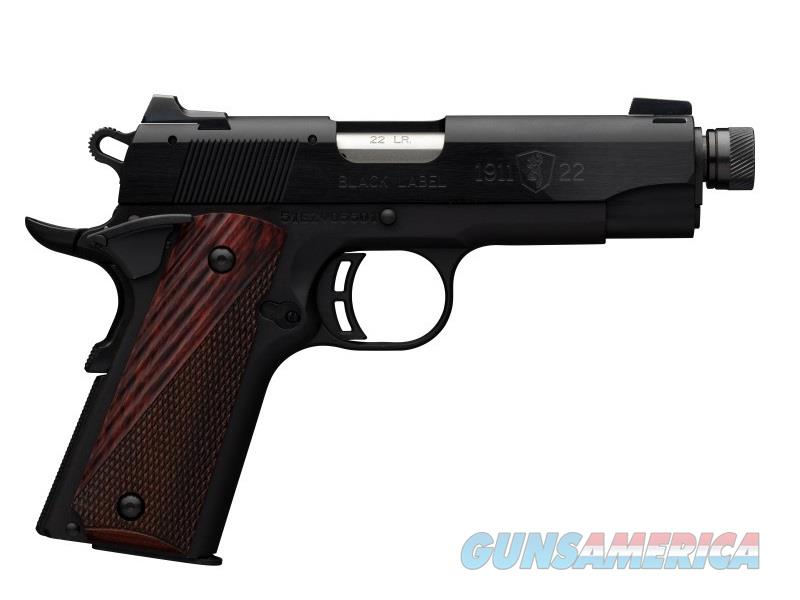 Browning 1911-22 BL CMPT 22LR 3.6 TB 1/2-28 TPI | 10+1 |  Guns > Pistols > Browning Pistols > Other Autos