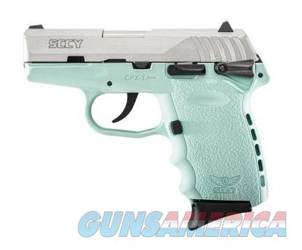 SCCY Industries CPX-1 9MM SS/BLUE 10+1 SFTY SCCY BLUE POLYMER FRAME  Guns > Pistols > SCCY Pistols > CPX1