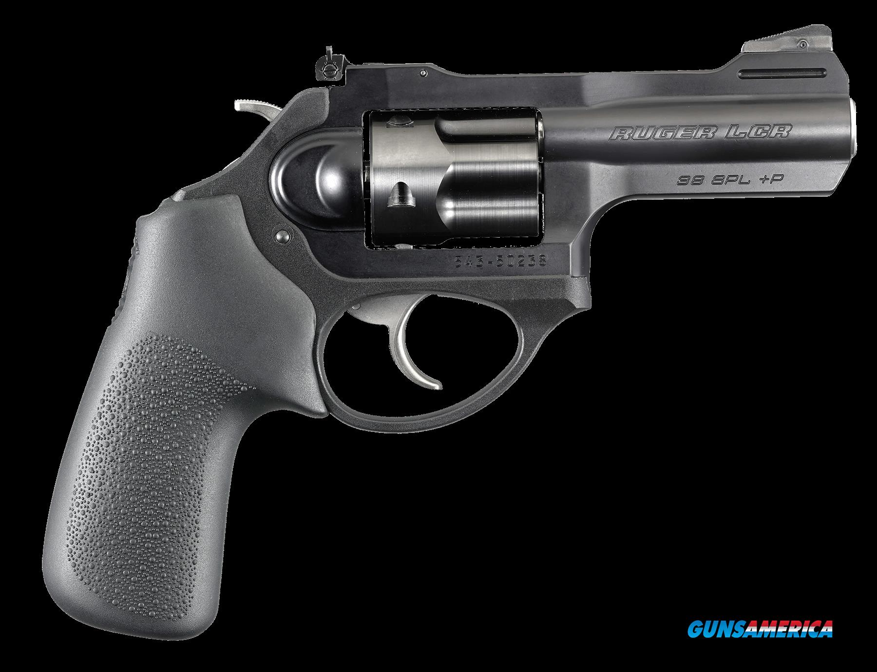 "Ruger 5431 LCR LCRx Single/Double 38 Special +P 3"" 5 rd Black Hogue Tamer Monogrip Grip Black  Guns > Pistols > Ruger Double Action Revolver > LCR"