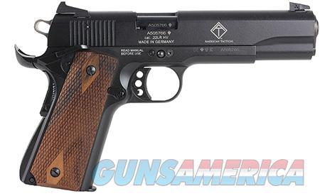 "GSG 2210M1911CA GSG 1911 *CA Compliant 22 LR 5"" 10+1 Black Hardcoat Anodized Walnut Grip  Guns > Pistols > American Tactical Imports Pistols"