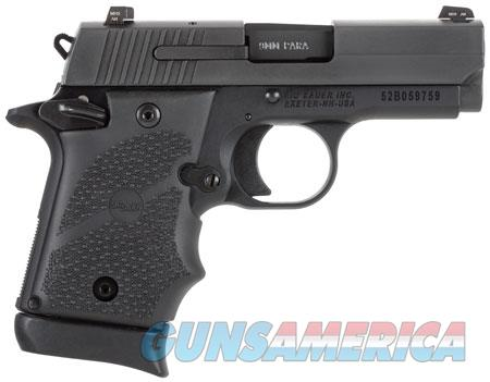 """Sig Sauer 9389BRGAMBI P938 Micro-Compact BRG Single 9mm Luger 3"""" 7+1 Hogue Rubber Grip Grip Black  Guns > Pistols > Sig - Sauer/Sigarms Pistols > Other"""
