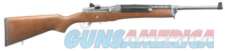 "Ruger 5802 Mini-14 Ranch 223 Rem/5.56 NATO 18.50"" 5+1 Hardwood Stock Matte Stainless  Guns > Rifles > R Misc Rifles"