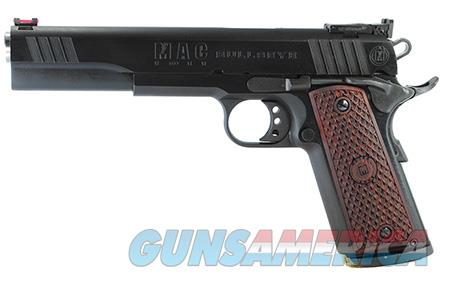 "MAC M19BE45B 1911 Bullseye 45 ACP Single 6"" 8+1 Hardwood w/MAC Logo Grip Blued Slide  Guns > Pistols > Desert Eagle/IMI Pistols > Other"