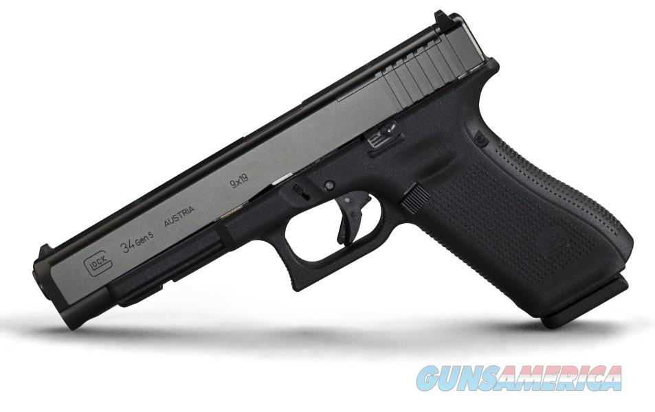 GLOCK G34 G5 9MM 17+1 5.3 MOS AS 3-17RD MAGS | ACCESSORY RAIL  Guns > Pistols > Glock Pistols > 34