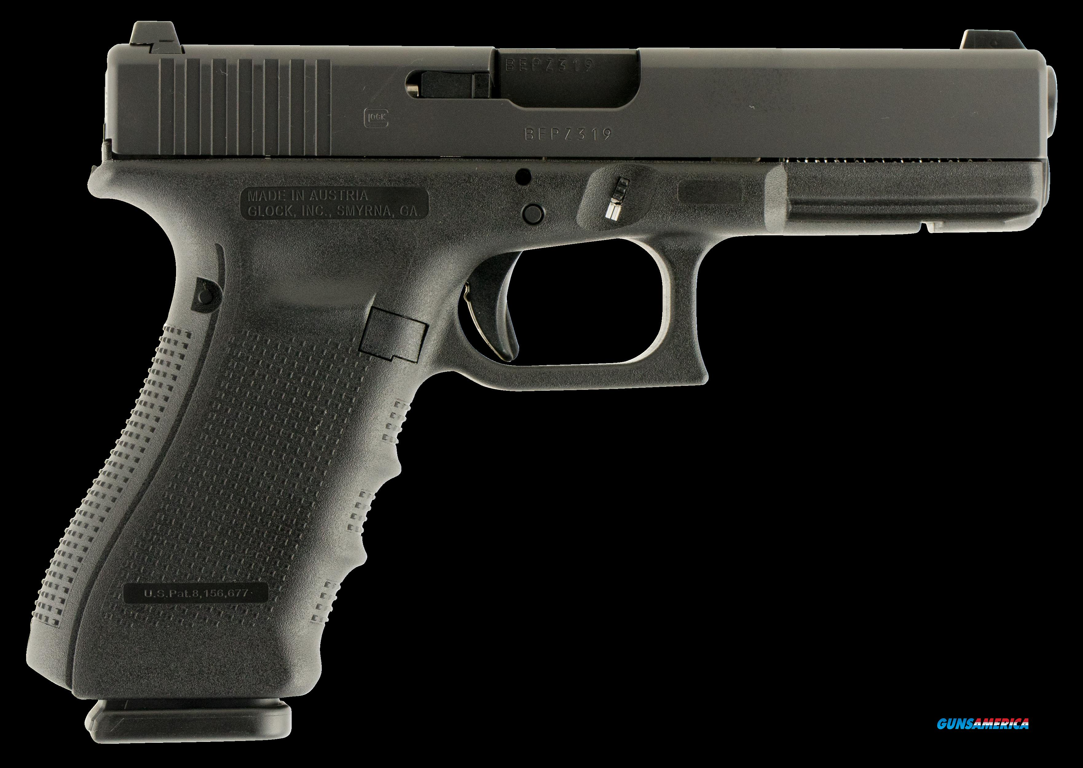 "Glock PG1750703 G17 Gen4 Double 9mm Luger 4.48"" 17+1 GNS Black Interchangeable Backstrap Grip Black  Guns > Pistols > G Misc Pistols"
