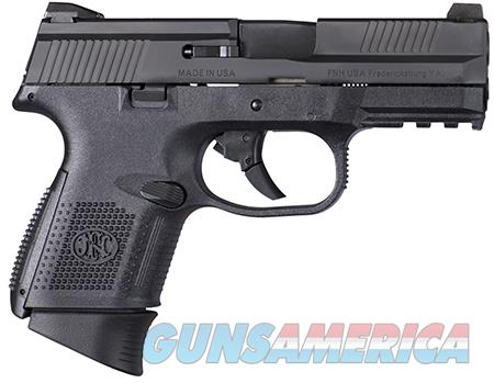 "FN 66694 FNS Compact 9mm Luger 3.60"" 10+1 Black Stainless Steel Black Polymer Grip  Guns > Pistols > FNH - Fabrique Nationale (FN) Pistols > FNS"