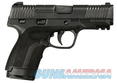 "Honor Defense HG9SCLSMS Honor Guard Long Slide 9mm Luger 3.80"" 7+1/8+1 Black Stainless Steel Black  Guns > Pistols > H Misc Pistols"