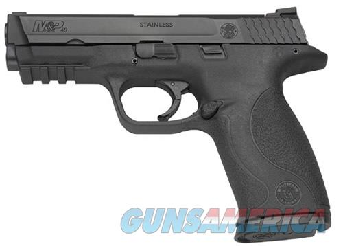 """Smith & Wesson 109350 M&P 40 *MA Compliant*  40 Smith & Wesson (S&W) Double 4.25"""" 10+1 NMS Black  Guns > Pistols > Smith & Wesson Pistols - Autos > Polymer Frame"""