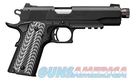 "Browning 051820490 1911-22 Black Label SR w/Rail 22 LR 4.875"" 10+1 Black/Gray G10  Guns > Pistols > Browning Pistols > Other Autos"