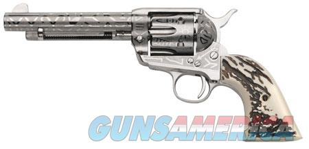 """Taylors and Company OG1407 1873 Cattleman 357 Mag 6 Round 5.50"""" Nickel Ivory Synthetic Grip  Guns > Pistols > Taylors & Co. Pistols > Ctg."""