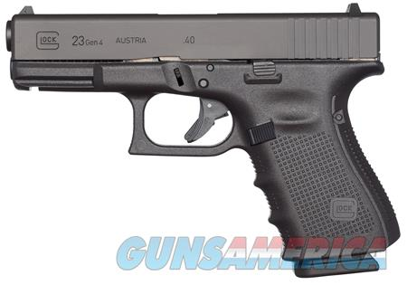 "Glock UG2350201 G23 Gen 4 Compact 40 S&W Double 4.01"" 10+1 Black Interchangeable Backstrap Grip  Guns > Pistols > G Misc Pistols"