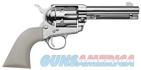 """Traditions SAT73131 1873 SAFrontier Nickel 45 Colt (LC) 4.75"""" 6 White PVC Nickel  Guns > Pistols > Traditions Pistols"""