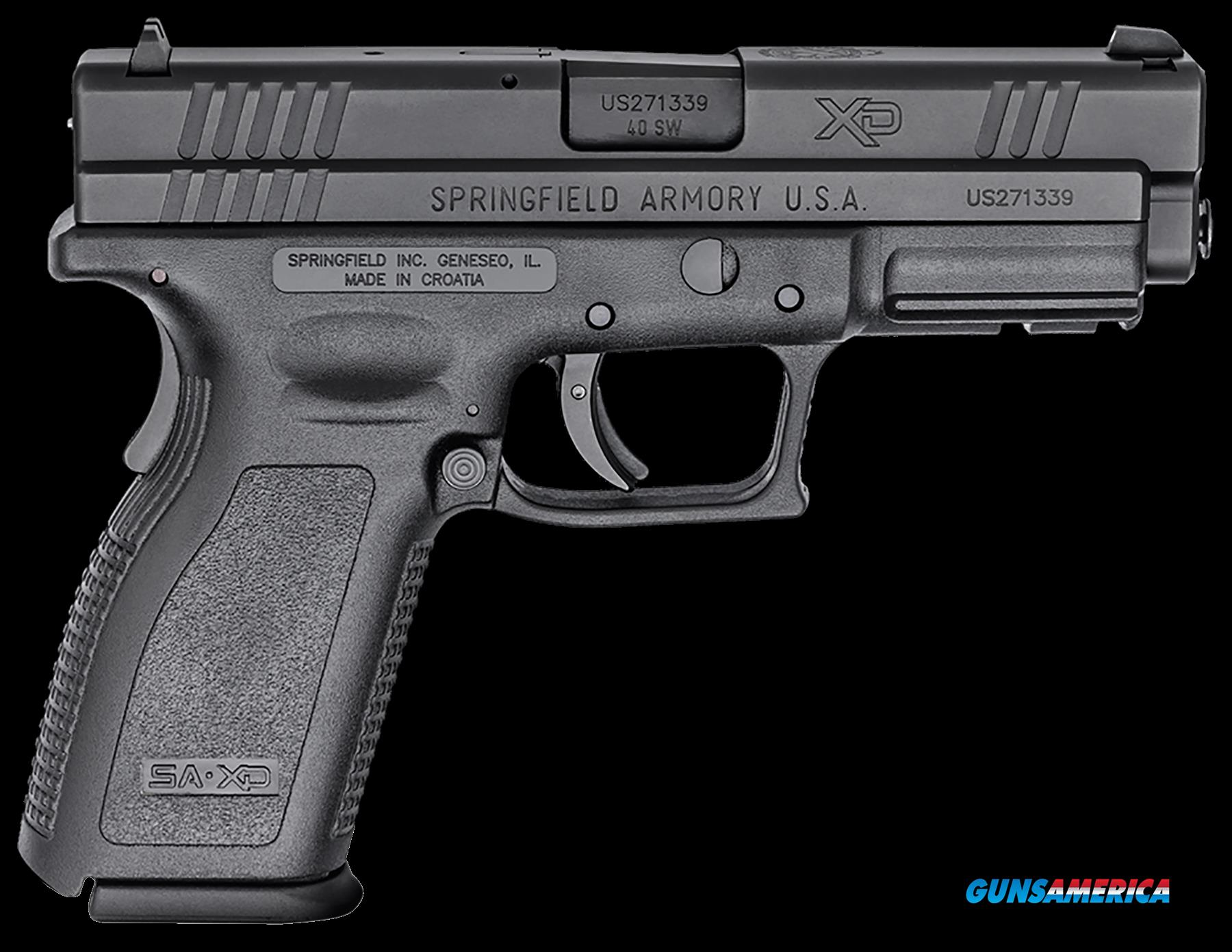"Springfield Armory XD9302 XD Service *CA Compliant* Double 40 Smith & Wesson (S&W) 4"" 10+1 Black  Guns > Pistols > Springfield Armory Pistols > XD (eXtreme Duty)"