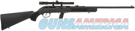 """Savage 40000 64 FXP with Scope Semi-Automatic 22 LR 21"""" 10+1 Black Fixed Synthetic Stock Blued Steel  Guns > Rifles > Savage Rifles > Other"""