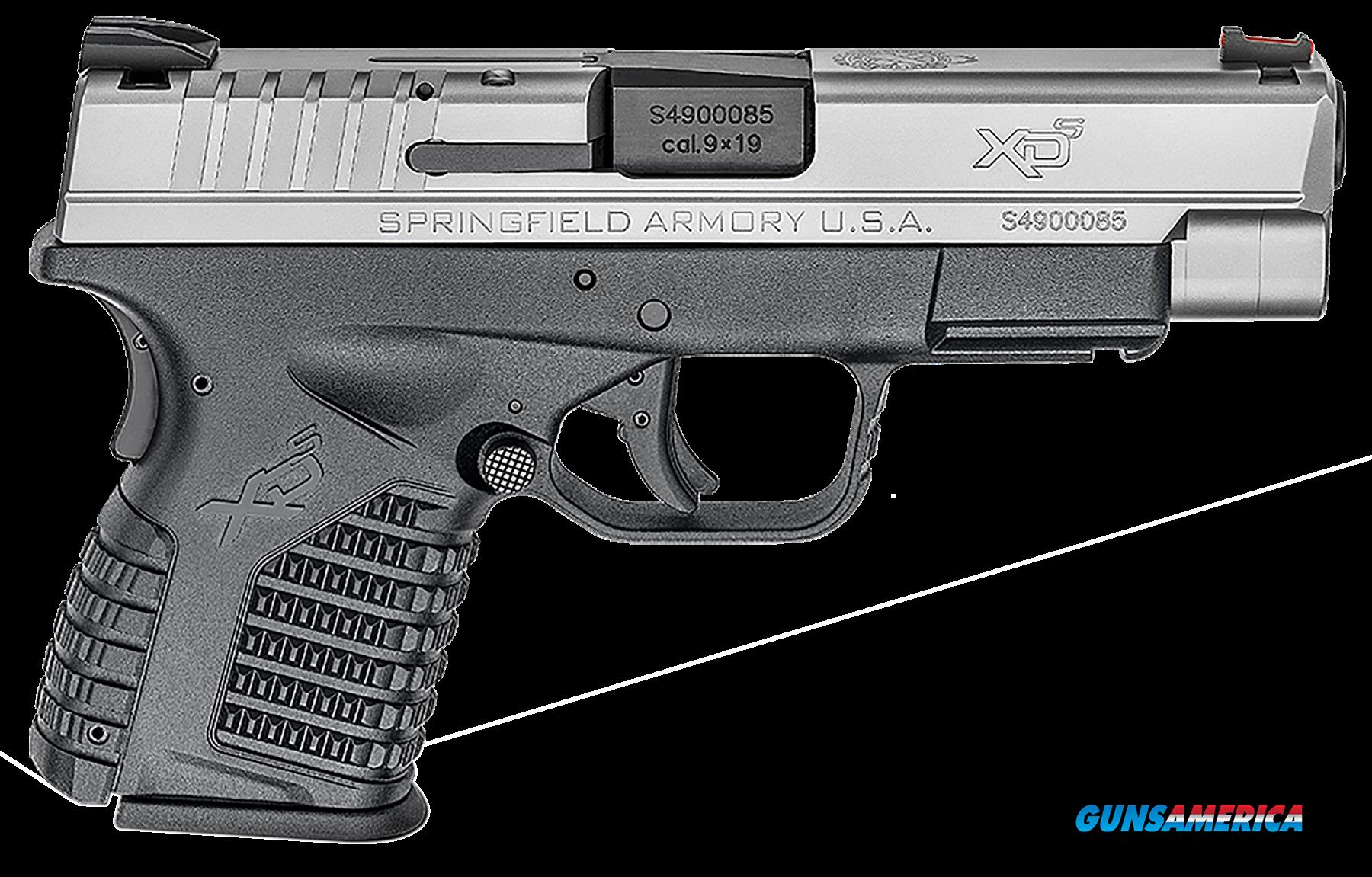 "Springfield XDS9409SE XD-S Essential 9mm 4"" DAO 7+1 Blk Poly Grip/Frame SS Slide  Guns > Pistols > S Misc Pistols"