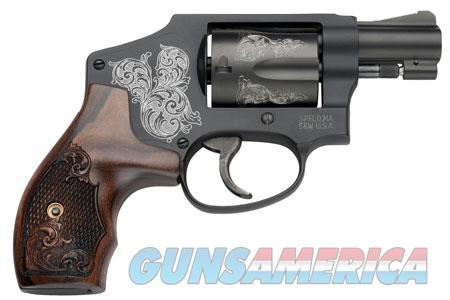 """Smith & Wesson 150785 442 Machine Engraved Double 38 Special 1.875"""" 5 rd Wood Engraved Grip Black  Guns > Pistols > Smith & Wesson Revolvers > Full Frame Revolver"""