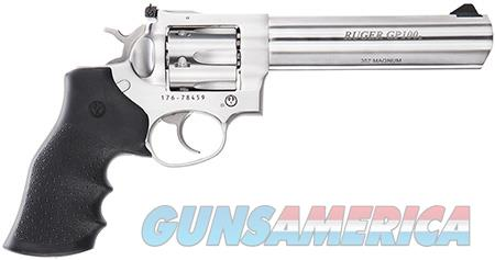 "Ruger 1707 GP100 Standard 357 Mag 6"" 6 Round Black Hogue Monogrip Stainless Steel  Guns > Pistols > Ruger Double Action Revolver > GP100"