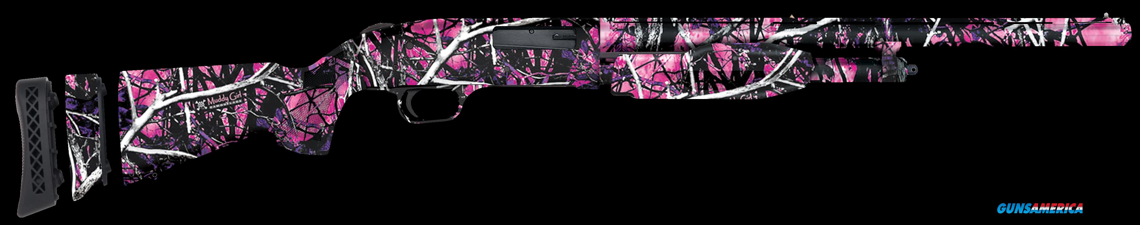"Mossberg 50496 510 Mini Pump 20 Gauge 18.5"" 3"" Muddy Girl Synthetic Stk Muddy Girl  Guns > Shotguns > MN Misc Shotguns"