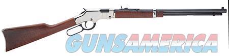 "Henry H004SV Golden Boy Silver Lever 17 HMR 20"" 11+1 American Walnut Stk Nickel Receiver/Blued  Guns > Rifles > H Misc Rifles"