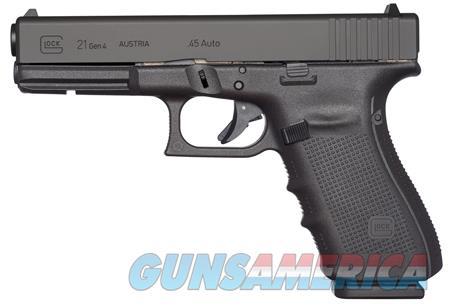 "Glock UG2150201 G21 Gen 4 45 ACP Double 4.60"" 10+1 Black Interchangeable Backstrap Grip Black Slide  Guns > Pistols > G Misc Pistols"