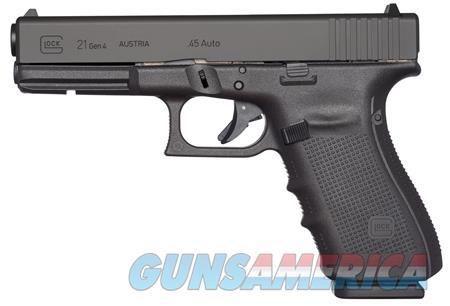 "Glock UG2150203 G21 Gen 4 45 ACP Double 4.60"" 13+1 Black Interchangeable Backstrap Grip Black Slide  Guns > Pistols > G Misc Pistols"