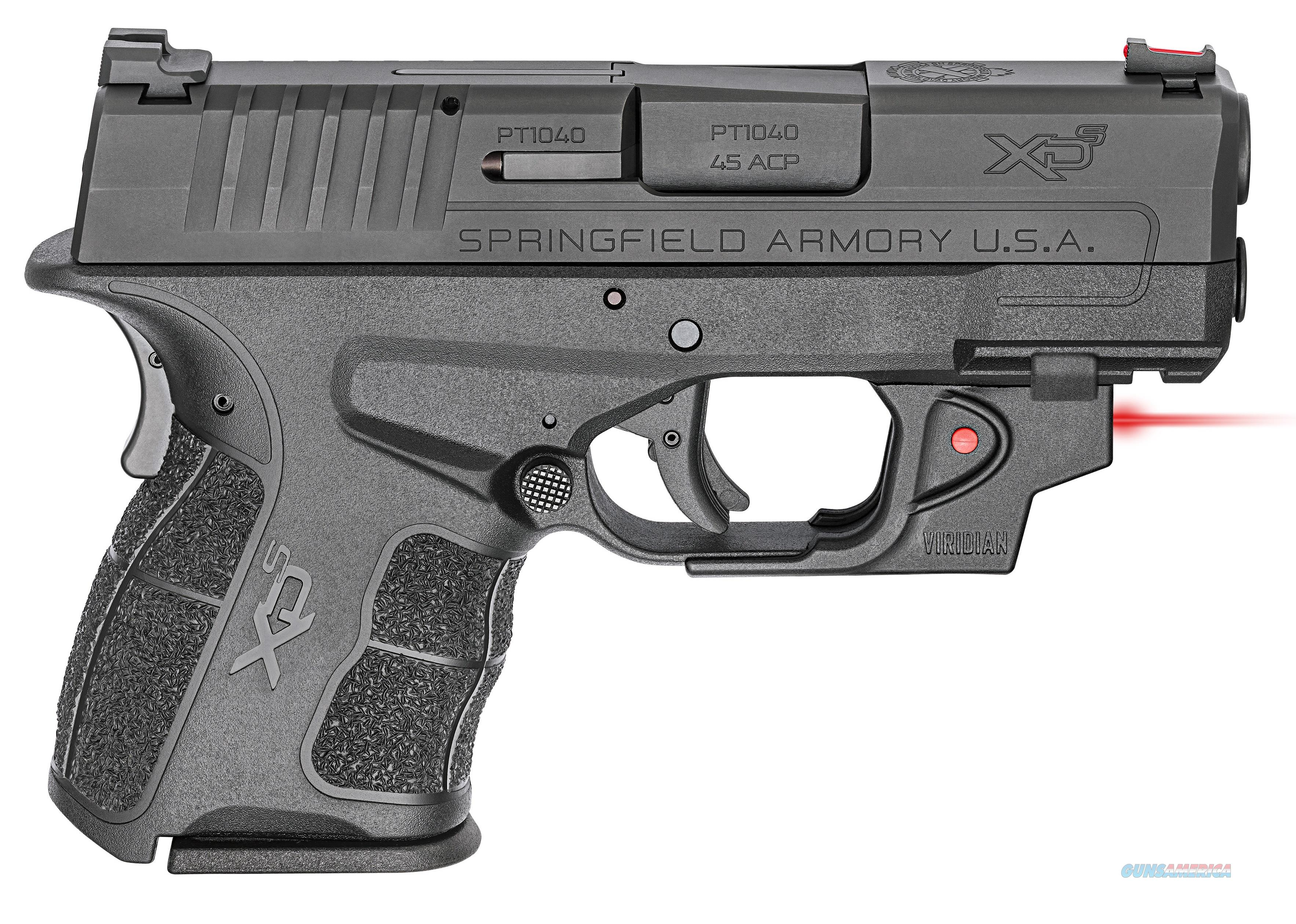 Springfield Armory XDS MOD2 45ACP BK 3.3 RD LSR VERIDIAN RED LASER | 2 MAGS  Guns > Pistols > Springfield Armory Pistols > XD-S