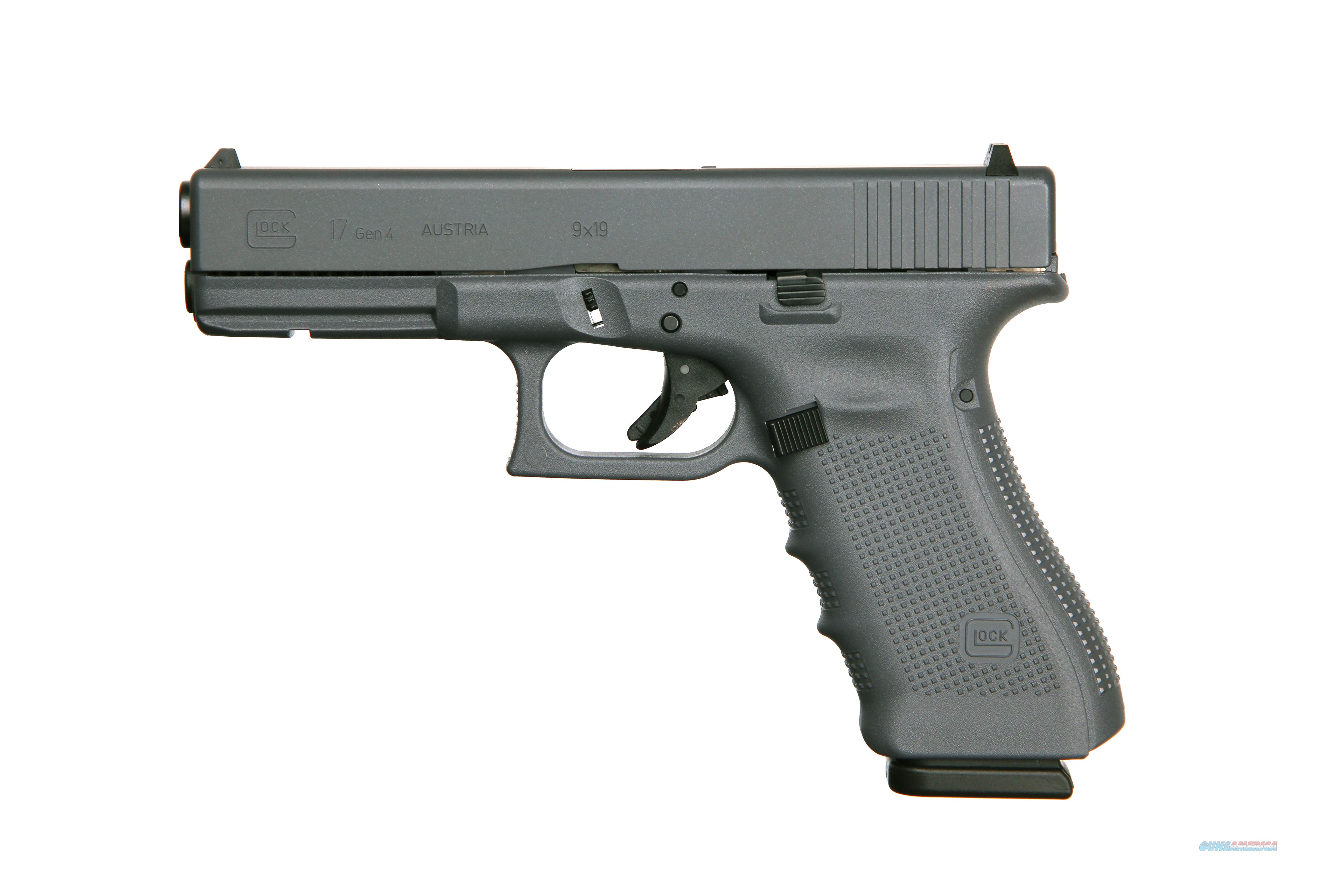 GLOCK G17 G4 FULL GRAY 9MM 17+1 FS 3-17RD MAGS | ACCESSORY RAIL  Guns > Pistols > G Misc Pistols