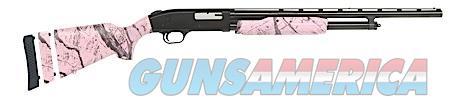 "Mossberg 54147 500 Youth Pump 20 Gauge 22"" 4+1 3"" Pink Camo Fixed Stock Blued Steel Receiver  Guns > Shotguns > Mossberg Shotguns > Pump > Sporting"