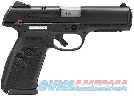 "Ruger 3800 SR45 Standard 45 ACP DA 4.50"" 10+1 Black Polymer Grip Black Slide  Guns > Pistols > Ruger Semi-Auto Pistols > SR Family"