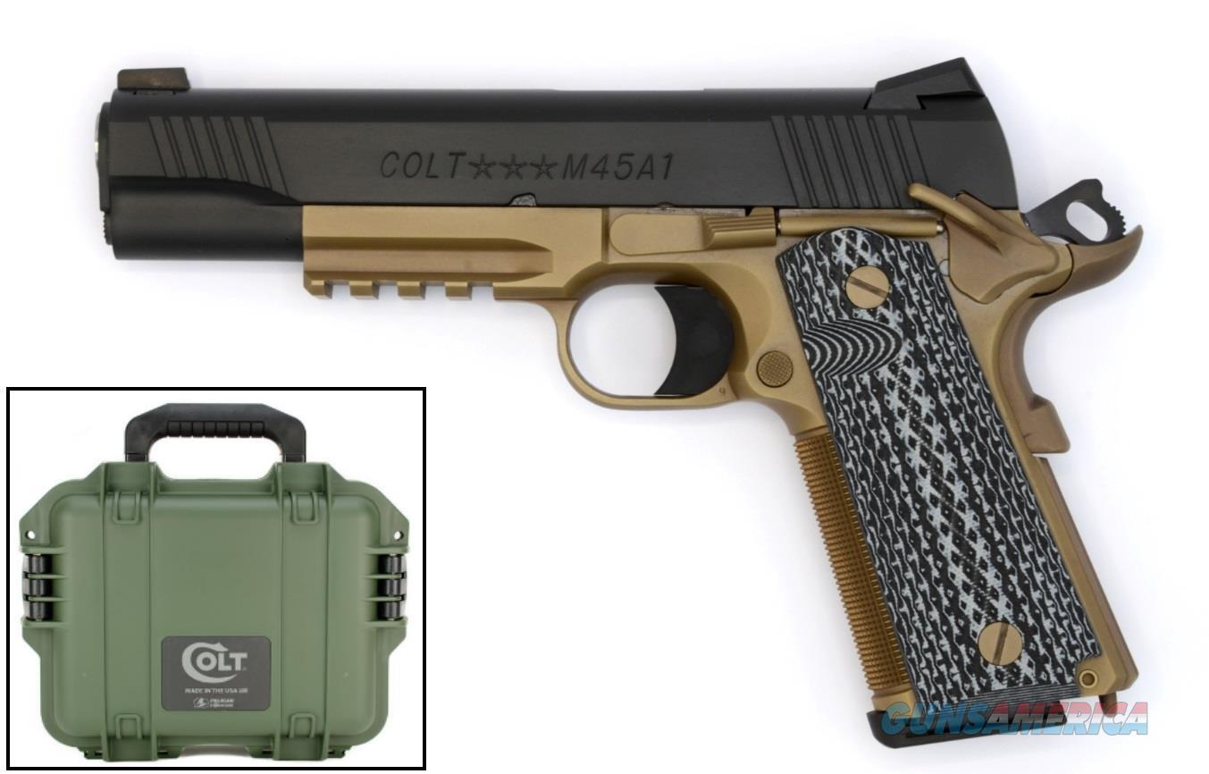 "Colt Mfg O1070CQBFB 1911 Government Custom Single 45 ACP 5"" 8+1 FDE Black G10 Grip Black Slide  Guns > Pistols > Colt Automatic Pistols (1911 & Var)"