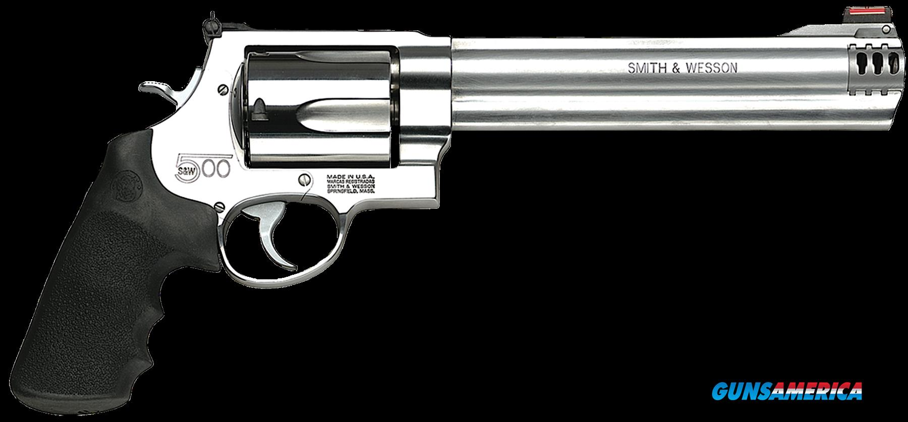 "Smith & Wesson 163501 500 Standard Stainless Single/Double 500 Smith & Wesson 8.4"" 5 Black Synthetic  Guns > Pistols > S Misc Pistols"
