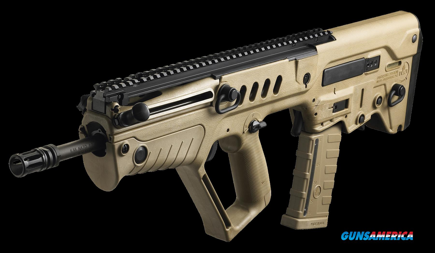 "IWI US TSDF16 Tavor SAR Semi-Automatic 223 Remington/5.56 NATO 16.5"" 30+1 Polymer Flat Dark Earth  Guns > Rifles > IWI"