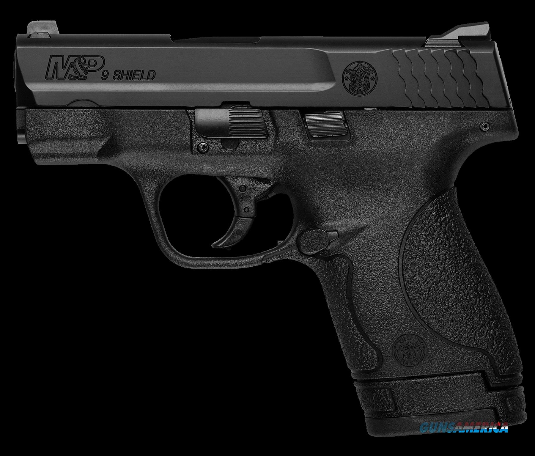 "Smith & Wesson 10038 M&P 9 Shield *MA Compliant* Double 9mm Luger 3.1"" 7+1/8+1 Black Polymer  Guns > Pistols > Smith & Wesson Pistols - Autos > Shield"