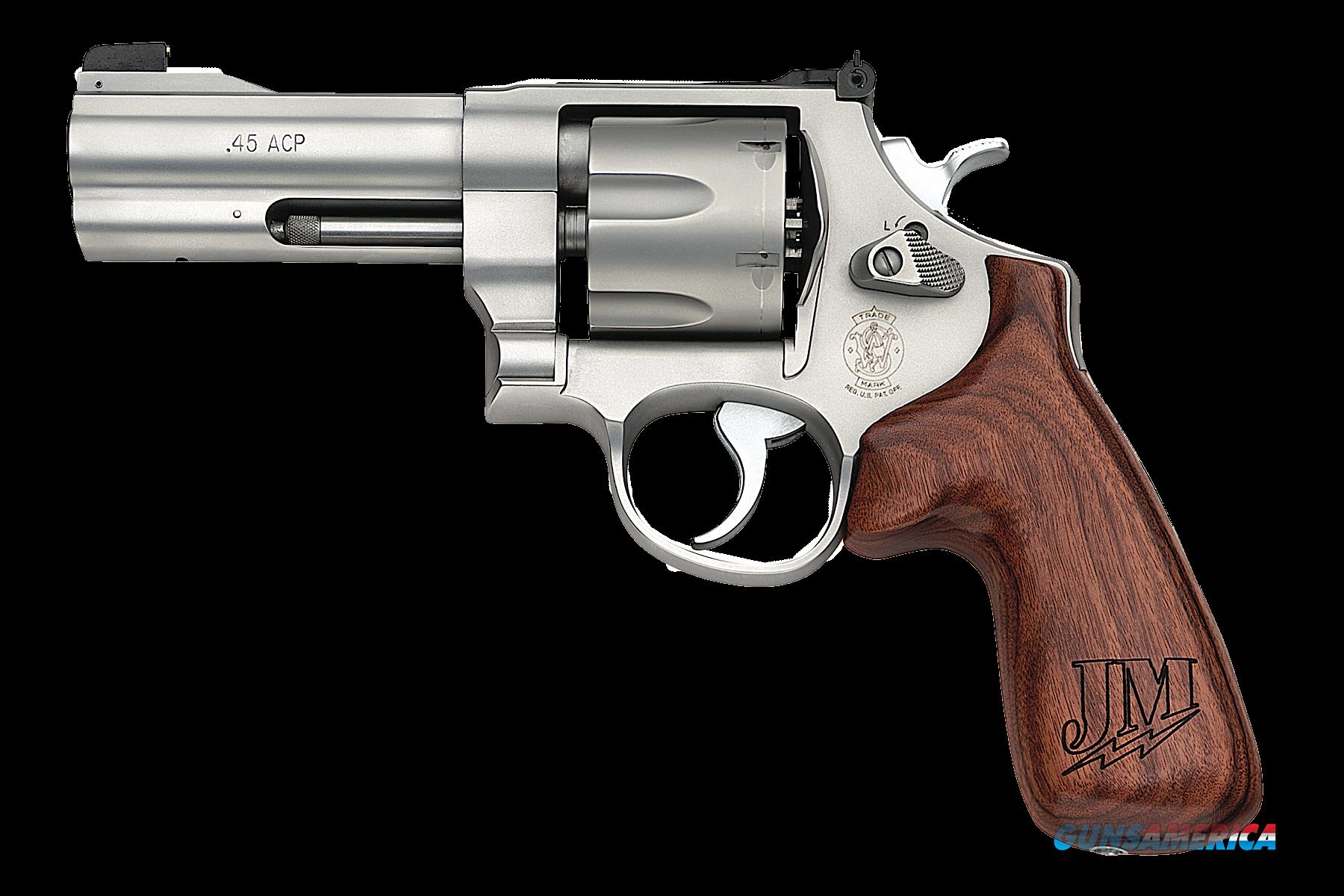 "Smith & Wesson 160936 625 JM Single/Double 45 Automatic Colt Pistol (ACP) 4"" 6 rd Jerry Miculek Wood  Guns > Pistols > Smith & Wesson Revolvers > Full Frame Revolver"