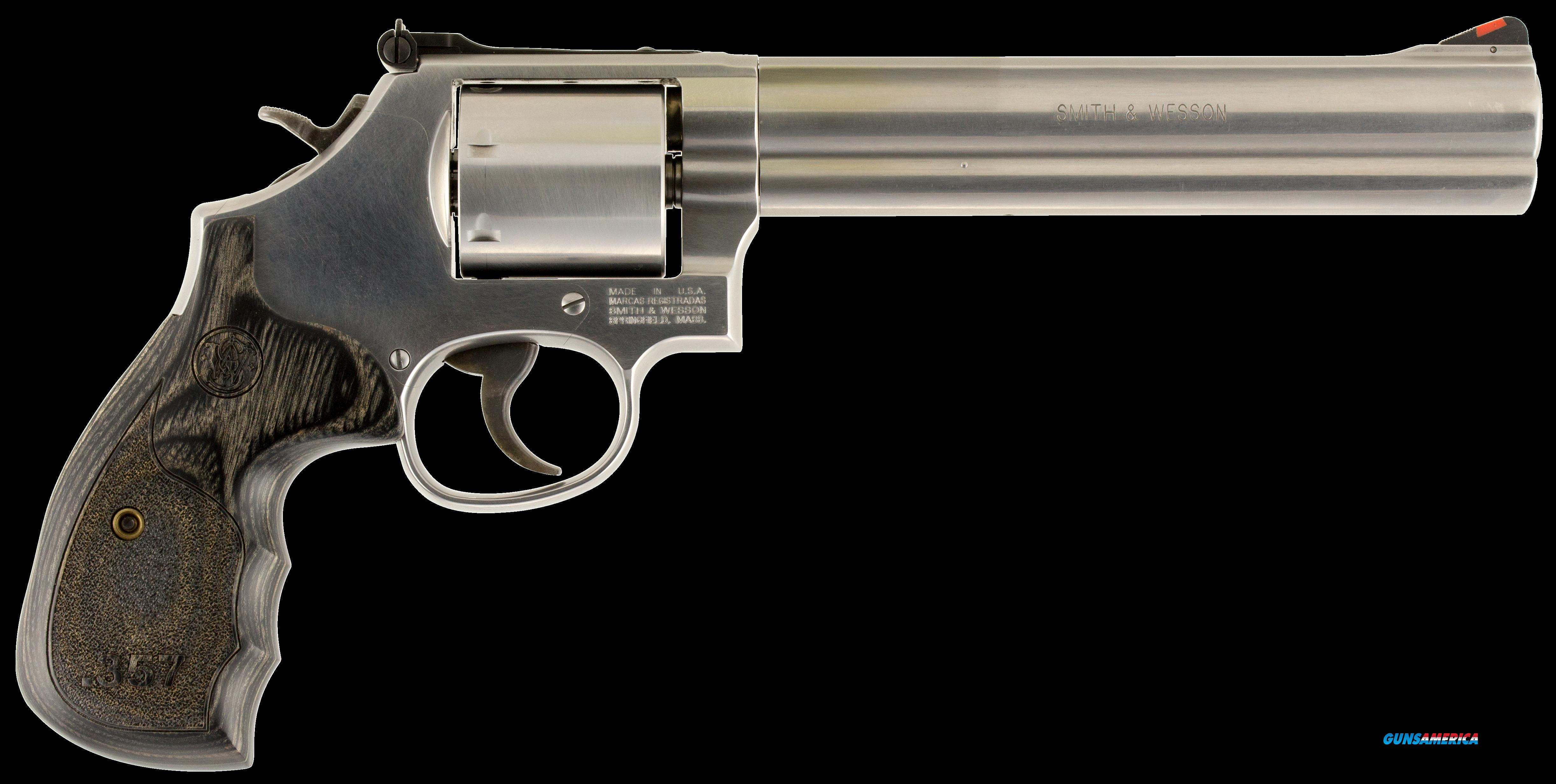 "Smith & Wesson 150855 686 Plus Single/Double 357 Magnum 7"" 7 rd Wood Grip Stainless Steel  Guns > Pistols > S Misc Pistols"