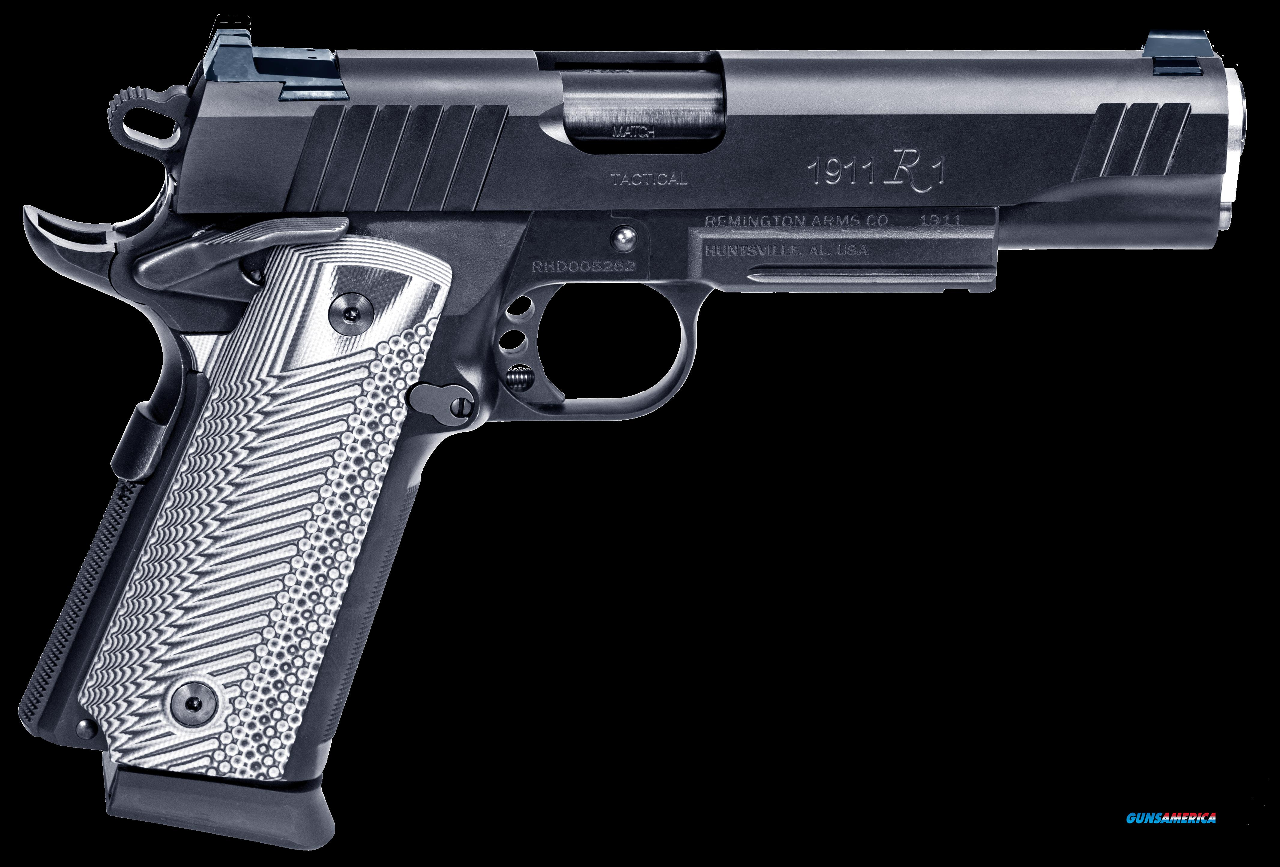 "Remington Firearms 96486 1911 Single 45 ACP 5"" 15+1 Black G10 Grip Black Stainless Steel  Guns > Pistols > R Misc Pistols"