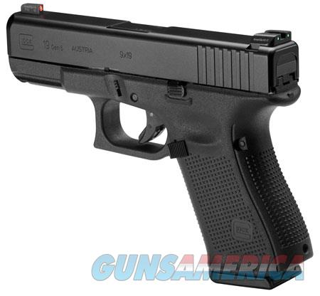 "Glock PA1950301AB G19 Gen5 Double 9mm Luger 4.02"" 10+1 NS Black Interchangeable Backstrap Grip Black  Guns > Pistols > G Misc Pistols"