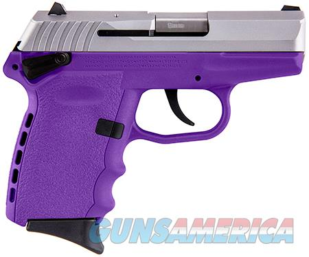 "SCCY Industries CPX1TTPU CPX-1  9mm Luger Double 3.10"" 10+1 Purple Polymer Grip/Frame Grip Stainless  Guns > Pistols > SCCY Pistols > CPX1"
