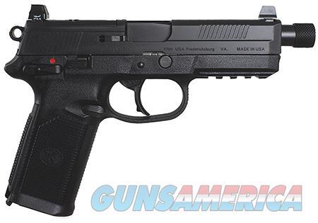 "FN FNX Tactical 45 ACP 5.30"" 15+1 Black Black Stainless Steel Interchangeable Backstrap Grip  Guns > Pistols > FNH - Fabrique Nationale (FN) Pistols > FNX"