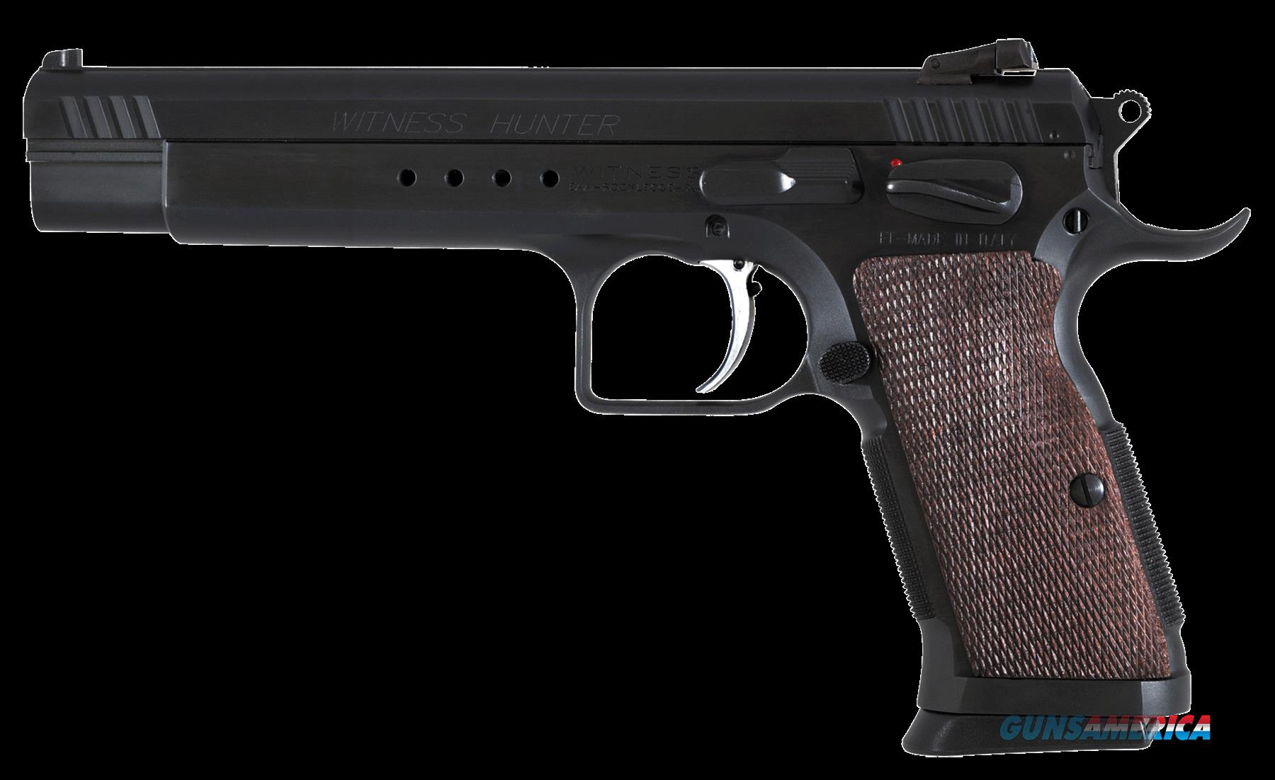 "EAA 600252 Witness Hunter SA 10mm 6"" 14+1 Wood Grip Blued  Guns > Pistols > EAA Pistols > Other"