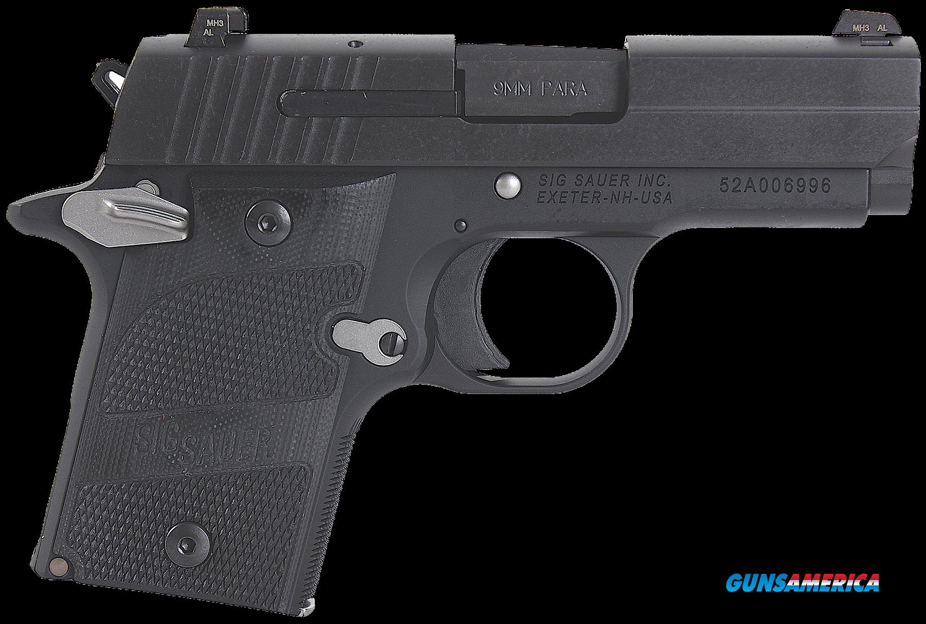 "Sig Sauer 9389NMRAMBI P938 Micro-Compact Nightmare Single 9mm Luger 3"" 6+1 Black G10 Grip Black  Guns > Pistols > Sig - Sauer/Sigarms Pistols > Other"