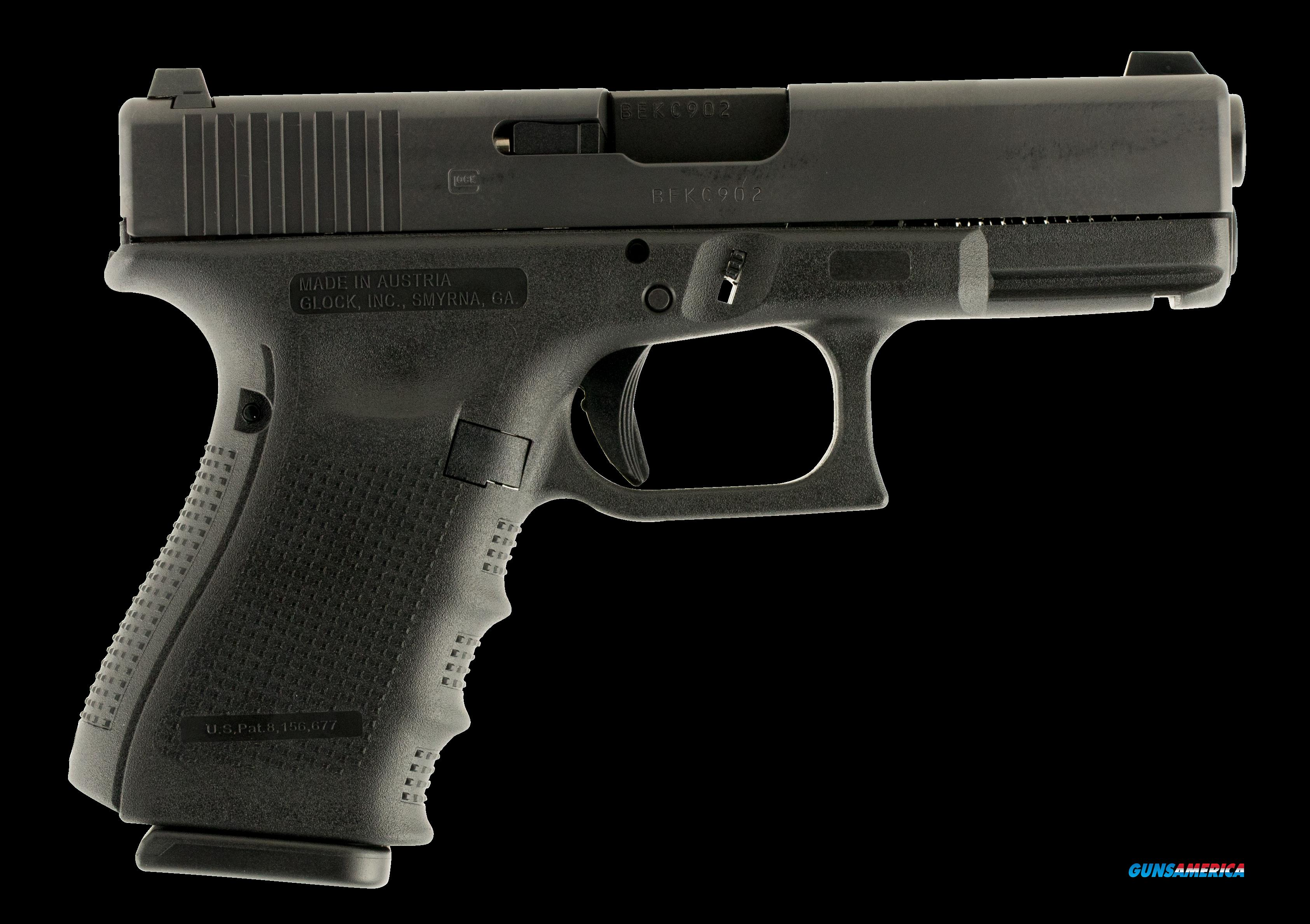Glock PG1950701 G19 Gen 4 Double 9mm Luger   Black Interchangeable Backstrap Grip  Guns > Pistols > G Misc Pistols