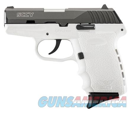 """SCCY Industries CPX2CBWT CPX-2 Carbon 9mm Luger Double 3.10"""" 10+1 White Polymer Grip/Frame Grip  Guns > Pistols > SCCY Pistols > CPX2"""