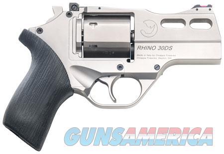 "Chiappa Firearms CF340290 Rhino 30SAR Single 357 Magnum 3"" 6 rd Black Rubber Grip Nickel  Guns > Pistols > C Misc Pistols"