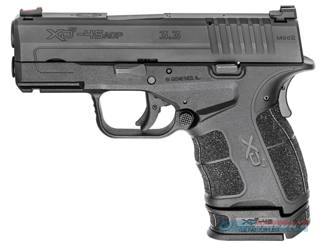 "Springfield Armory XDSG93345B XD-S Mod.2 45 Automatic Colt Pistol (ACP) Double 3.3"" 5+1/6+1 FO Black  Guns > Pistols > Springfield Armory Pistols > XD-S"