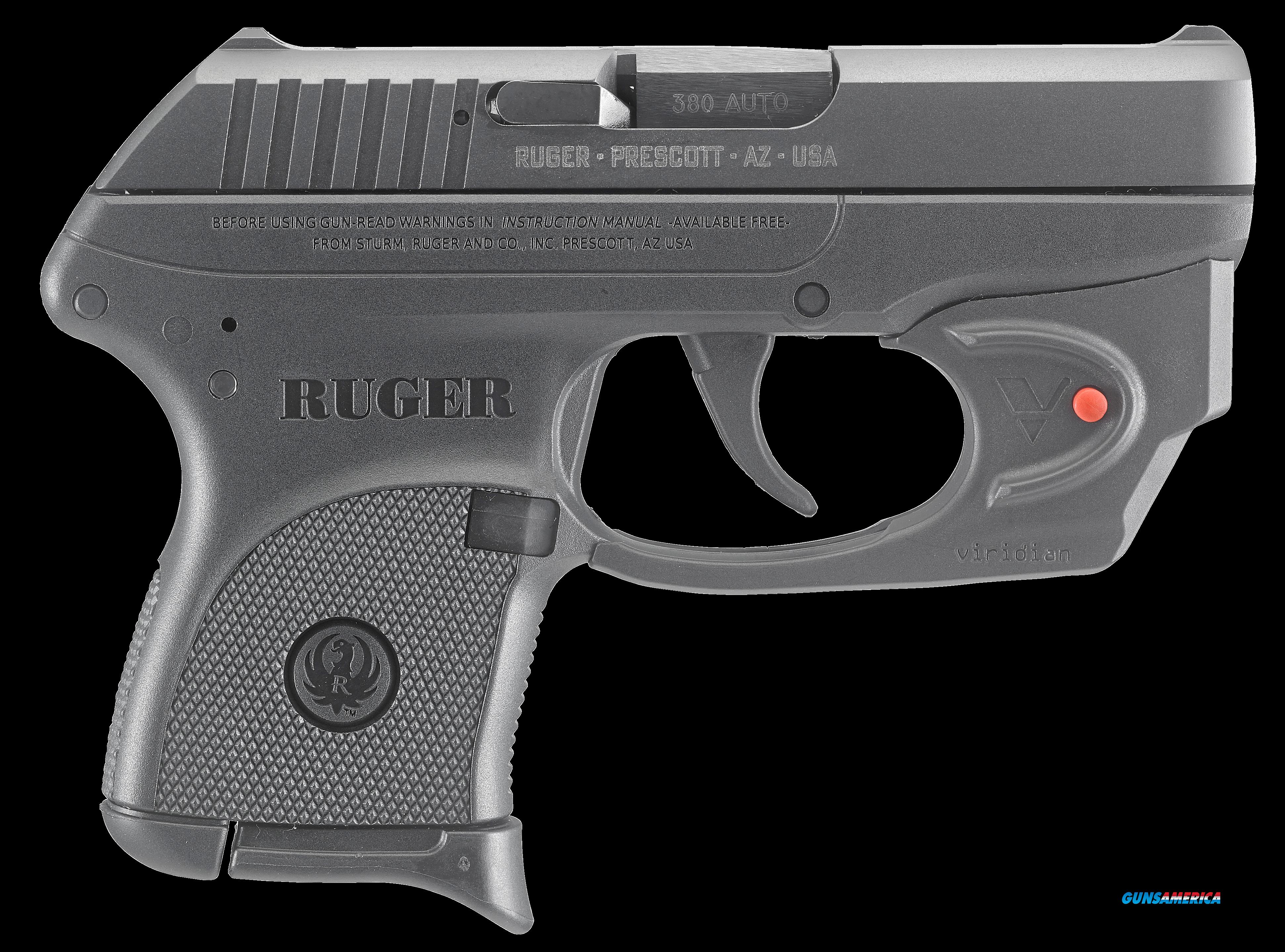 Ruger 3752 LCP Standard with Viridian E-Series Red Laser Single/Double 380 Automatic Colt Pistol  Guns > Pistols > R Misc Pistols